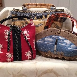 NEW & ADORABLE - LOT OF 3 PREPPY, HANDMADE BAGS